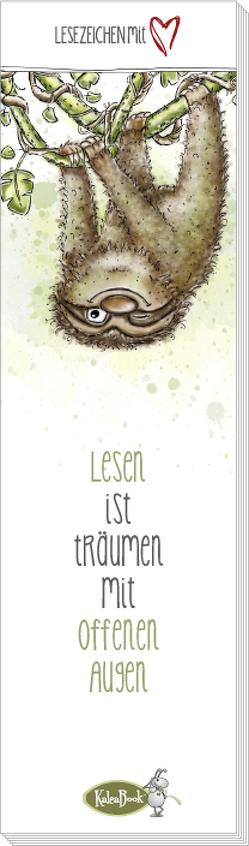 Lesen ist Träumen mit offenen Augen (Lesezeichenblock) von Kauer,  Daniel, Kauer,  Jacqueline
