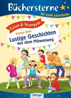 Lesen & Stempeln. Lustige Geschichten aus dem Möwenweg von Boie,  Kirsten, Engelking,  Katrin, Jessler,  Nadine