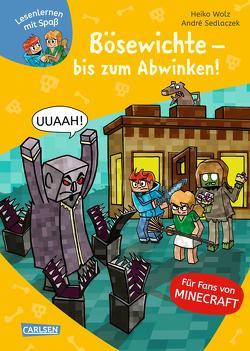 Lesenlernen mit Spaß – Minecraft 5: Bösewichte – bis zum Abwinken! von Sedlaczek,  André, Wolz,  Heiko