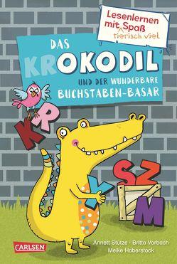 Lesenlernen mit tierisch viel Spaß: Das Okodil und der wunderbare Buchstaben-Basar von Haberstock,  Meike, Stütze,  Annett, Vorbach,  Britta