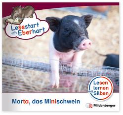 Lesestart mit Eberhart: Marta das Minischwein von Brandau,  Nicole, Drecktrah,  Stefanie