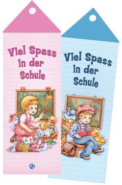 """Lesezeichen """"Schulanfang"""" mit Kordel"""