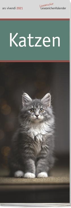 Lesezeichenkalender Katzen 2021
