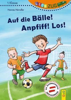 LESEZUG/1. Klasse: Auf die Bälle! Anpfiff! Los! von Hörndler,  Hannes, Leiss-Bohn,  Simone