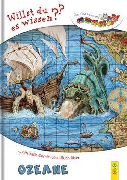LESEZUG/Willst du es wissen? Ein Sach-Comic-Lese-Buch über Ozeane von Finke,  Elmar, Hartmann,  Markus R, Weinknecht,  Martin
