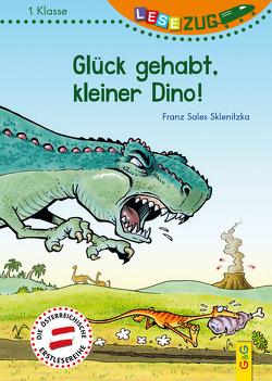 LESEZUG/1. Klasse: Glück gehabt, kleiner Dino! von Breneis,  Helmut, Sklenitzka,  Franz Sales