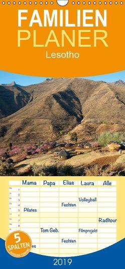 Lesotho – Familienplaner hoch (Wandkalender 2019 , 21 cm x 45 cm, hoch) von Scholz,  Frauke