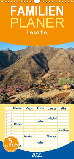 Lesotho – Familienplaner hoch (Wandkalender 2020 , 21 cm x 45 cm, hoch) von Scholz,  Frauke