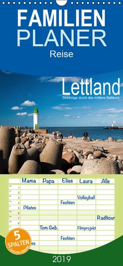 Lettland – Streifzüge durch das mittlere Baltikum – Familienplaner hoch (Wandkalender 2019 , 21 cm x 45 cm, hoch) von Hallweger,  Christian