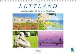 Lettland: Zauberhaftes Reisen im Baltikum (Wandkalender 2018 DIN A3 quer) von CALVENDO,  k.A.