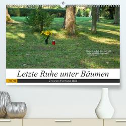 Letzte Ruhe unter Bäumen, Trost in Wort und Bild (Premium, hochwertiger DIN A2 Wandkalender 2020, Kunstdruck in Hochglanz) von Marten,  Martina