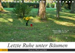 Letzte Ruhe unter Bäumen, Trost in Wort und Bild (Tischkalender 2020 DIN A5 quer) von Marten,  Martina