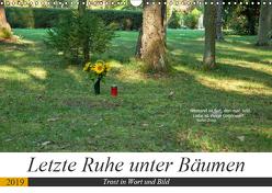 Letzte Ruhe unter Bäumen, Trost in Wort und Bild (Wandkalender 2019 DIN A3 quer) von Marten,  Martina