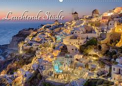 Leuchtende Städte (Wandkalender 2021 DIN A2 quer) von Klinder,  Thomas