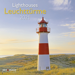 Leuchttürme 2021 – Wand-Kalender – Broschüren-Kalender – A&I – 30×30 – 30×60 geöffnet