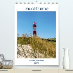 Leuchttürme an der Nordsee (Premium, hochwertiger DIN A2 Wandkalender 2021, Kunstdruck in Hochglanz) von Dreegmeyer,  Andrea