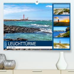 Leuchttürme an der See (Premium, hochwertiger DIN A2 Wandkalender 2021, Kunstdruck in Hochglanz) von Dreegmeyer,  Andrea