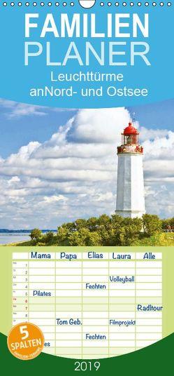Leuchttürme: Die Schönsten an Nord- und Ostsee – Familienplaner hoch (Wandkalender 2019 , 21 cm x 45 cm, hoch) von CALVENDO