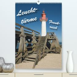 Leuchttürme Frankreich (Premium, hochwertiger DIN A2 Wandkalender 2021, Kunstdruck in Hochglanz) von Scholz,  Frauke
