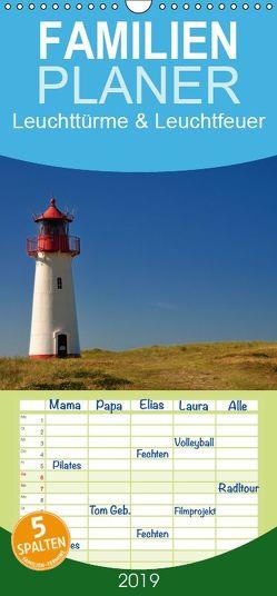 Leuchttürme & Leuchtfeuer – Familienplaner hoch (Wandkalender 2019 , 21 cm x 45 cm, hoch) von Bade,  Uwe