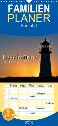 Leuchttürme – maritime Wegweiser weltweit – Familienplaner hoch (Wandkalender 2019 , 21 cm x 45 cm, hoch) von Roder,  Peter