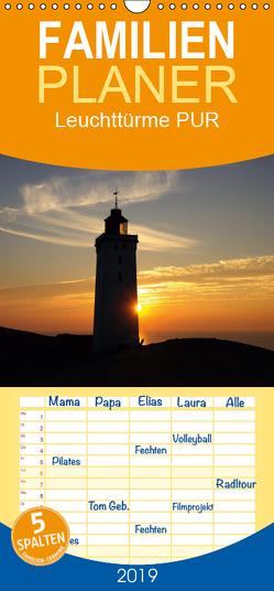 Leuchttürme PUR – Familienplaner hoch (Wandkalender 2019 , 21 cm x 45 cm, hoch) von Prescher,  Werner