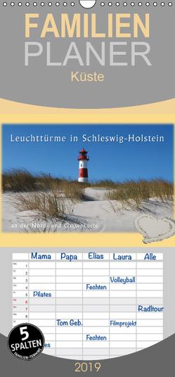 Leuchttürme Schleswig-Holsteins – Familienplaner hoch (Wandkalender 2019 , 21 cm x 45 cm, hoch) von Brandt,  Jessica