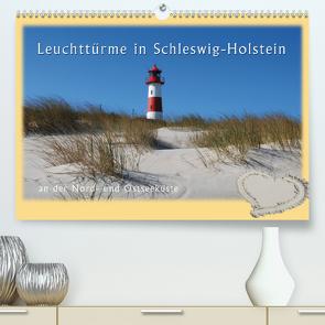 Leuchttürme Schleswig-Holsteins (Premium, hochwertiger DIN A2 Wandkalender 2021, Kunstdruck in Hochglanz) von Brandt,  Jessica