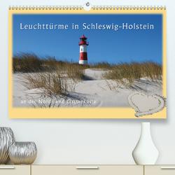 Leuchttürme Schleswig-Holsteins (Premium, hochwertiger DIN A2 Wandkalender 2020, Kunstdruck in Hochglanz) von Brandt,  Jessica