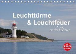 Leuchttürme und Leuchtfeuer an der Ostsee (Tischkalender 2019 DIN A5 quer) von Carina-Fotografie