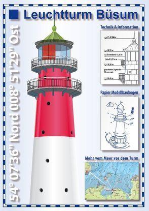 Leuchtturm Büsum – Se'h'karte und Papier-Modellbaubogen von Drewes,  Rolf, Niemeyer,  Enrico