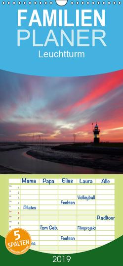 """Leuchtturm """"Kleiner Preuße"""" – Familienplaner hoch (Wandkalender 2019 , 21 cm x 45 cm, hoch) von Kusajda,  Andrea"""