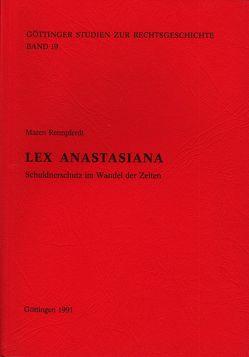 Lex Anastasiana von Behrends,  Okko, Rennpferdt,  Maren, Sellert,  Wolfgang
