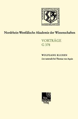 Lex naturalis bei Thomas von Aquin von Kluxen,  Wolfgang