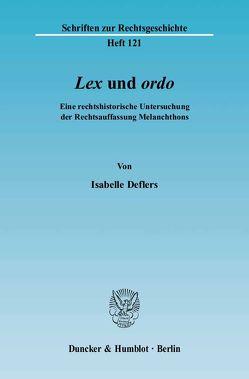 Lex((kursiv)) und ordo((kursiv)). von Deflers,  Isabelle