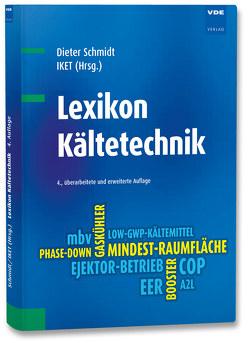 Lexikon Kältetechnik von Schmidt,  Dieter