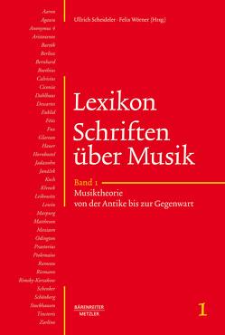 Lexikon Schriften über Musik von Grimm,  Hartmut, Scheideler,  Ullrich, Wald-Fuhrmann,  Melanie, Woerner,  Felix