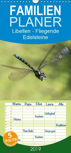 Libellen – Fliegende Edelsteine – Familienplaner hoch (Wandkalender 2019 , 21 cm x 45 cm, hoch) von Lippmann,  Andreas
