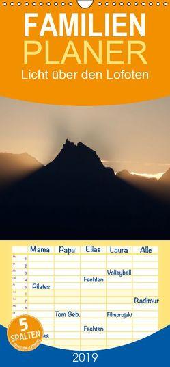 Licht über den Lofoten – Familienplaner hoch (Wandkalender 2019 <strong>21 cm x 45 cm</strong> hoch) von Ammich,  Klaus