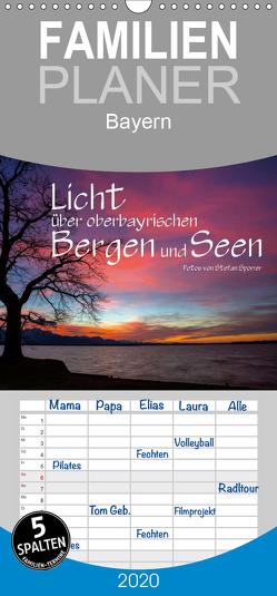 Licht über oberbayrischen Bergen und Seen – Familienplaner hoch (Wandkalender 2020 , 21 cm x 45 cm, hoch) von Spörrer,  Stefan