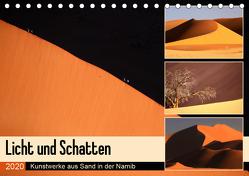 Licht und Schatten – Kunstwerke aus Sand in der Namib (Tischkalender 2020 DIN A5 quer) von und Michael Herzog,  Yvonne