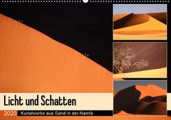 Licht und Schatten – Kunstwerke aus Sand in der Namib (Wandkalender 2020 DIN A2 quer) von und Michael Herzog,  Yvonne