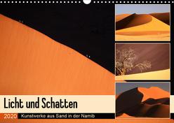 Licht und Schatten – Kunstwerke aus Sand in der Namib (Wandkalender 2020 DIN A3 quer) von und Michael Herzog,  Yvonne