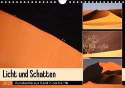 Licht und Schatten – Kunstwerke aus Sand in der Namib (Wandkalender 2020 DIN A4 quer) von und Michael Herzog,  Yvonne