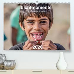 Lichtmomente – Eine Reise durch Indien (Premium, hochwertiger DIN A2 Wandkalender 2020, Kunstdruck in Hochglanz) von Kraft,  Saskia