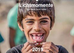 Lichtmomente – Eine Reise durch Indien (Wandkalender 2019 DIN A2 quer) von Kraft,  Saskia