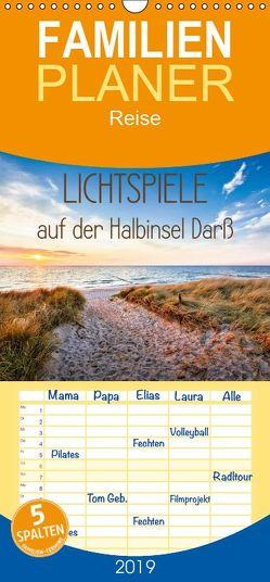 Lichtspiele auf der Halbinsel Darß – Familienplaner hoch (Wandkalender 2019 , 21 cm x 45 cm, hoch) von Bergmann,  Kathleen