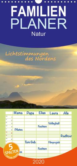 Lichtstimmungen des Nordens – Familienplaner hoch (Wandkalender 2020 , 21 cm x 45 cm, hoch) von GUGIGEI