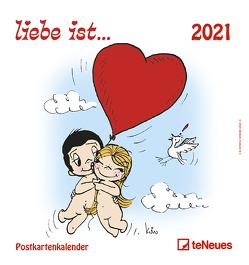liebe ist… 2021 – Postkarten-Kalender – Kalender-mit-Postkarten – zum-raustrennen – 16×17 von Casali,  Kim