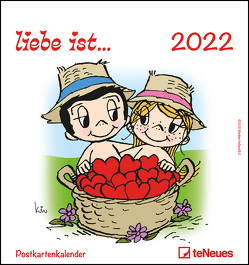liebe ist… 2022 – Postkarten-Kalender – Kalender-mit-Postkarten – zum-raustrennen – 16×17 von Casali,  Kim